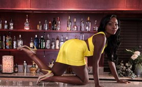Slutwife Osa Pays Her Bar Tab with Her Black Pussy