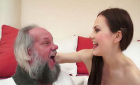 Old Horny Grandpa Tasted Barely Legal Brunette