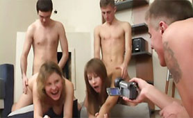 Crazy Teens Filmed and Put on the Internet Their Sex Orgy Because they Want to Become Pornstars
