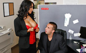 Sexy Seduction from Busty Secretary Leads to Hard Fuck with her Horny Boss