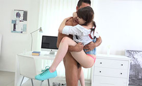Barely Legal Teen in the Grip of Perverted Older Guy