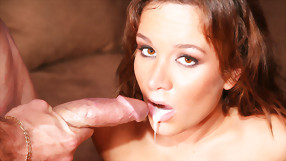 Extremely Loaded Cock Filled with Massive Cumshots her Mouth and Pussy