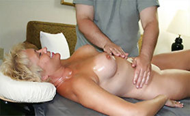 Oiled Massage Stimulates her Mature Naked Body and She Wants Dick Immediately!