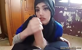 Beautiful Arab Babe Likes to Kneel on the Floor and to Suck Cock and to be Recorded