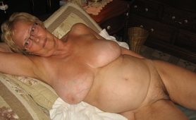 An Unenviable Grandmother Shows Her Bare Breasts