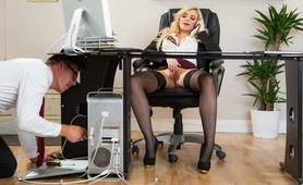 Naughty Female Boss Gets Horny While Having Business Meeting