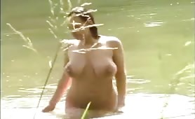 Amateur Busty Girl Fucked in the Woods by Horny Older Cock
