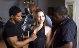 This Chick Looks Naive but She Served Three Horny Black Dudes