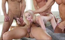 Her First Casting for Porn Industry Finished with Several Cocks Inside Her Tiny Holes