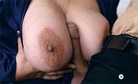 Fat Mature Slut Gives Titjob with her Massive Natural Breasts