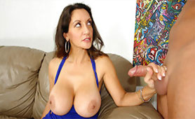 Busty Lady Wants Splashing of Fresh Cum on her Big Melons