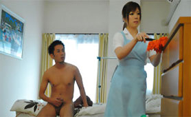 New Parlormaid Gets Creampied when his Parents Aren't Home