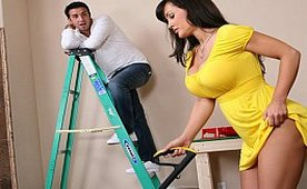 Teasing The Handyman Until He Has It Enough