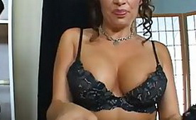 Naughty Mom Provokes Seller In the Shop By His Lush Breasts