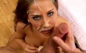 Huge Facial for Big Titty Hottie After Amazing Fuck