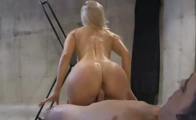 Naked Man Tortured By This Blonde Hottie