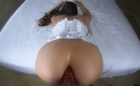First Time Anal for Hot Bride