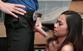 Cute Asian Teen Thief Suspected Hard Fucked By Security Guard