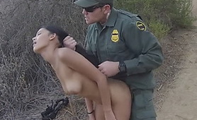 Mexican Chick Outside Hard Fucked by Border Patrol