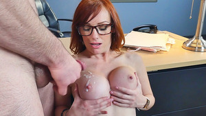 Spray with Jizz My Huge Melons, I Love That! - I Fucked My Big Tited Boss