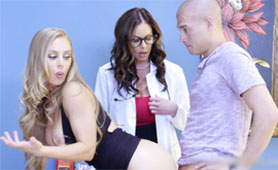 Hot MILF Doctor Joined Into Hard Fuck in Doctors Cabinet