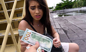 When She Saw Hundreds of Bucks, She Easy Changed Her Mind