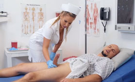 Big Titted Nurse Olivia Takes Care Of Her Patient's Cock