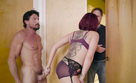 Busty wife Tory Lane cheating on hubby with therapist / Analdin.com
