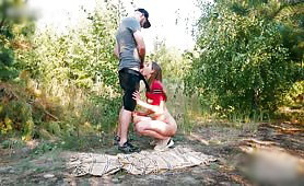 Dad Teases and Fucks Horny Daughter While On a Picnic