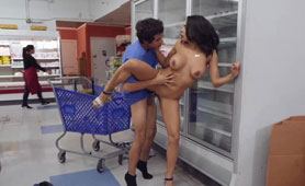 Hot Milf Finds a Cucumber In a Supermarket But Wants a Dick Besides
