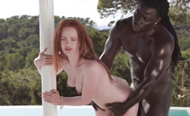 Interracial Destroying by the Pool - Red Hair Slut Xnxx