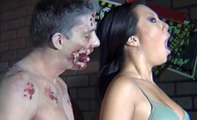 Zombie Fucks Hot Asian Bitch, But it Was Just Her Dream
