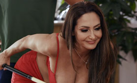 MILF Ava Addams Stuffed And Pounded Good After The Pool Playing