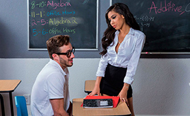 Hot Naughty Teacher Wants to Give Nerd Boy Free Fuck Lesson