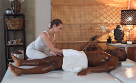 Horny European Masseuse Couldn't Resist Grabbing That Massive Black Dick