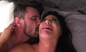 Busty Brunette MILF Moans and Cries After Getting into Hard Anal Sex