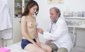 Perverted Old Doctor Checks Sexy Teens Body and Gets Naughty