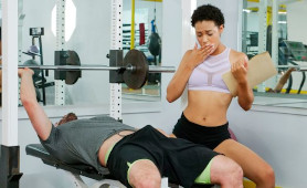 Exotic Ebony Trainer Amethyst Banks Wants White Dick  From The Gym