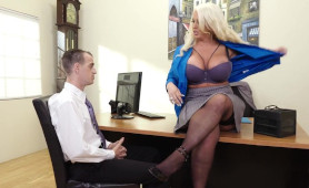 Filthy MILF Boss Only Hires Guys with Superb Fuck Skills