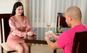 Horny Couple Playing Poker Party For Rimjob And Relax Fuck