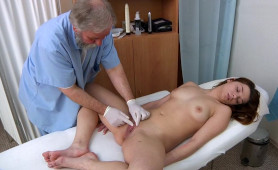 Darkhaired Babe Needs Gyno Exam By Horny Dr