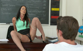 Weird MILF Teacher Seduces Young Man and Gets Laid On Desk