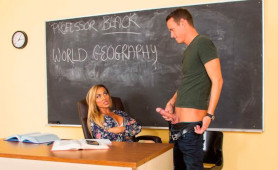 Stunning MILF Teacher Aubrey Black Wants to Learn her Horny Student How to Fuck