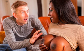 Horny White Guy Fucks Busty Ebony Goddess for The First Time in his Life