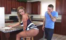 Naughty Blonde MILF Provokes Her Son's Best Friend with her Big Hot Ass