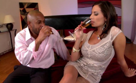 Xxx After Party for Rich Black Man And Superb Drunk MILF Babe