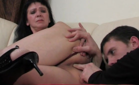 Wicked Young Man Wants To Fuck Horny Old Granny In her Ass