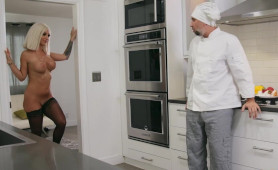 Private Chef Getting Molested and Banged by Naughty Blonde Slut